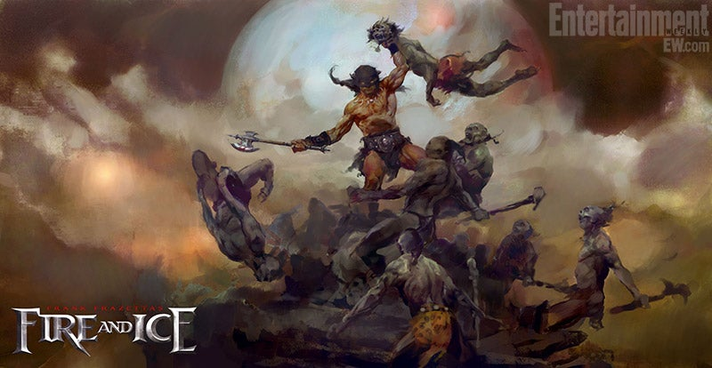 Robert Rodriguez shares concept art from his very naked Frank Frazetta-inspired flick