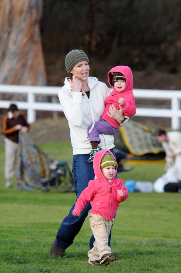 One Of Marcia Cross' Kids Makes A Run For It