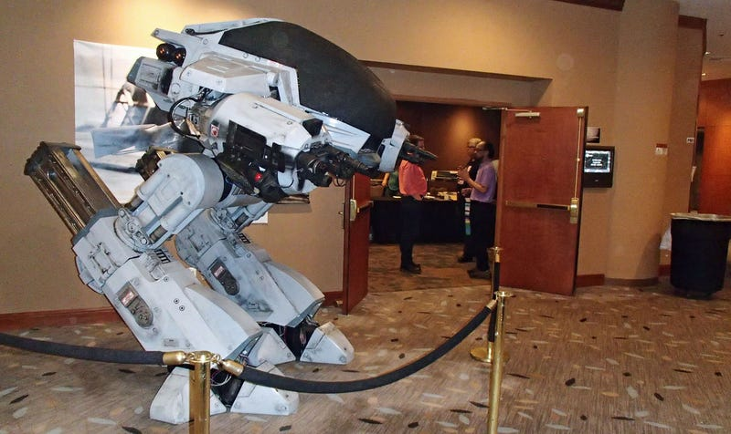 Man Builds Real ED-209, Has Twenty Seconds To Impress