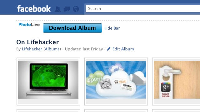PhotoLive for Chrome Downloads Your Facebook Photos for Easy Migration
