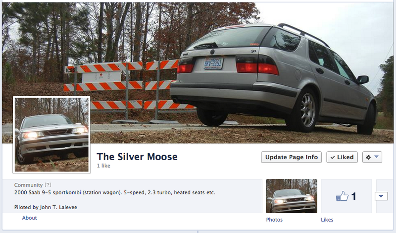 I made my car a Facebook page