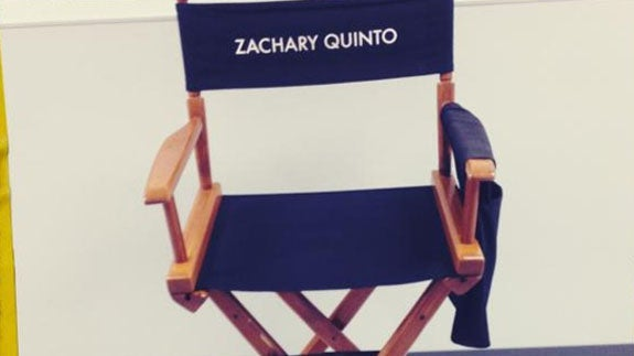 Zachary Quinto's Empty Actor Chair On The Set of Star Trek 2