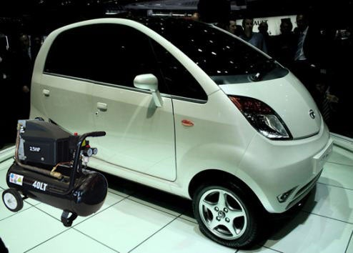 Tata Nano To Offer Compressed Air Engine Optional, Make Electric Cars Look Silly