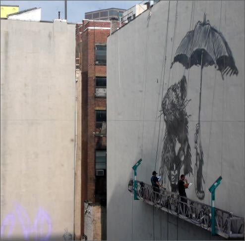 Banksy Covering Gotham With Huge Rodents