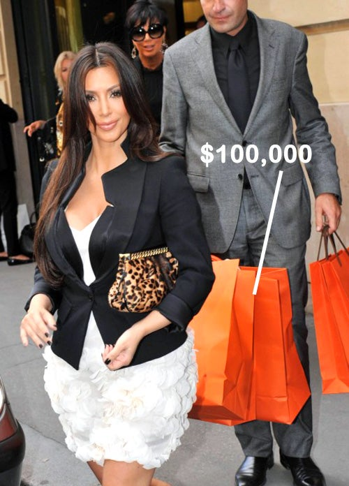 Kim Kardashian's $100,000 Purse Shopping Spree, and Other Recession Hardships