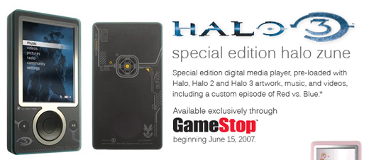 Halo 3 Zune Up For Pre-Order, Released June 15
