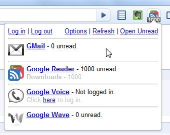 One Number Checks Unread Counts for Gmail, Wave, Reader, and Voice