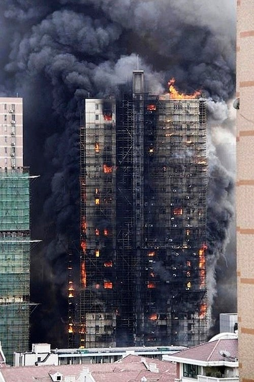 Real-Life Towering Inferno Kills Dozens in Shanghai