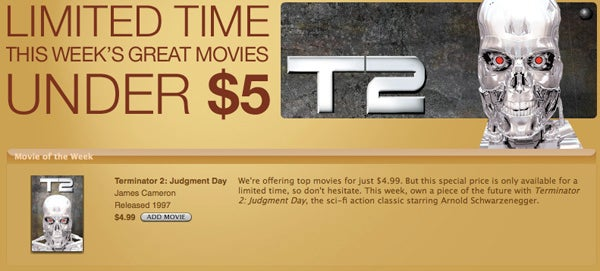 iTunes Store Gets a $5 Movie Bin