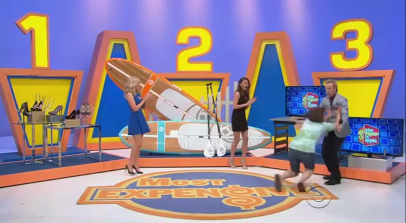 Elated Price Is Right Contestant Trips, Headbutts Announcer In Crotch
