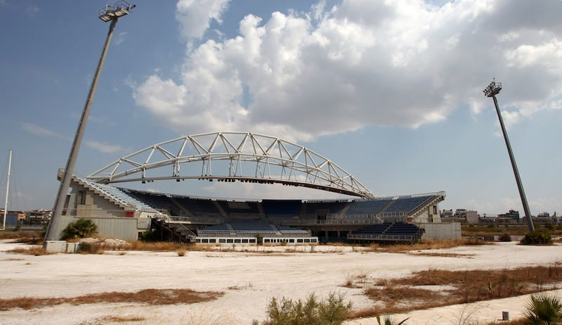 Eight years after the Athens Olympics, some venues have been left to rot