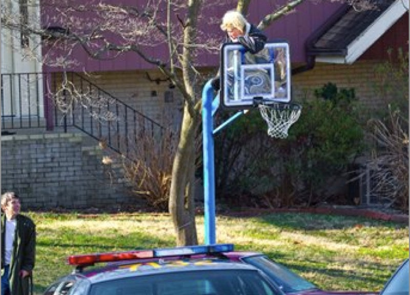 Delaware Mother Climbs A Pole To Protect Her Children's Right To Play Street Hoops