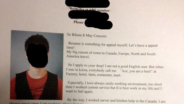 This South Korean Job Seeker's Emotional Cover Letter Puts Your Grammatically Correct CV to Shame