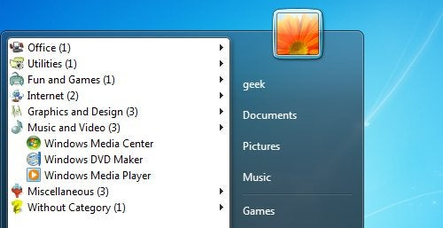 The Handy Start Menu Organizes Your Applications for You