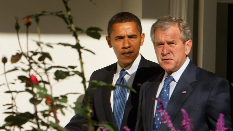 Bush Won't Go on Ground Zero Date With Obama