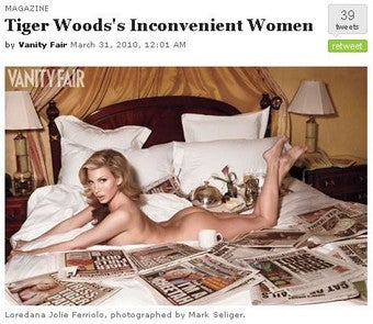 Tiger's Tampon Troubles: Four Sordid Details From Vanity Fair's Exposé