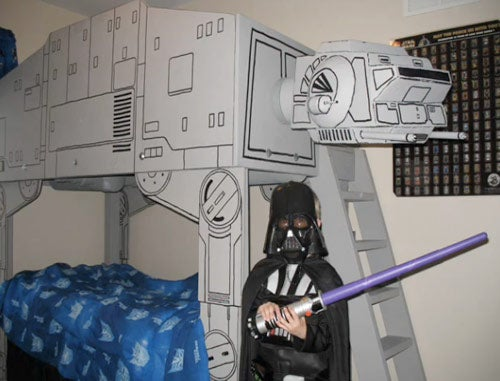 Dad Builds Imperial Walker Bed for Himself His Son