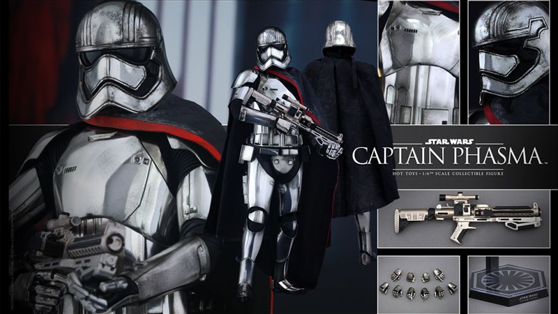 Hot Toys' Amazing Captain Phasma Figure is Shiny and Chrome