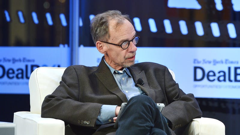 The New York Times' Media Columnist Sits in a Bloomberg Chair