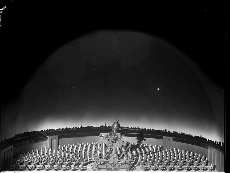 Retro fan art from the original Hayden Planetarium