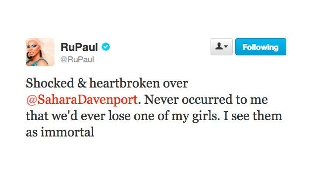 RuPaul Confirms the Untimely Death of Sahara Davenport
