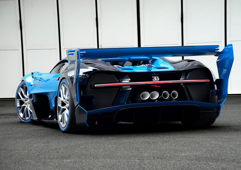 'Bugatti Vision Gran Turismo Concept: The Future Of Bugatti Looks Terrifyingly Awesome' from the web at 'http://i.kinja-img.com/gawker-media/image/upload/s--0PYBcZdr--/c_scale,fl_progressive,q_80,w_800/1430362453428723496.jpg'