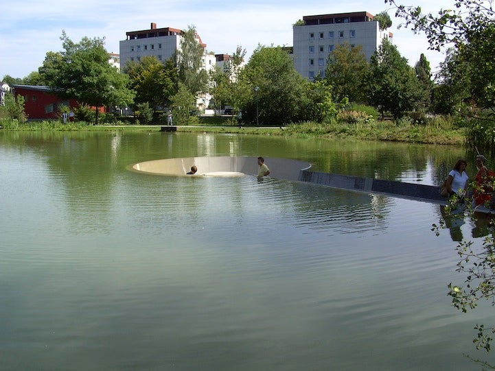 You Can Sit in This Pond Without Getting Wet