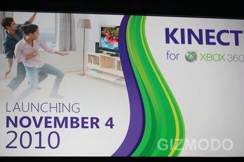 Microsoft Xbox 360 Kinect Launches November 4