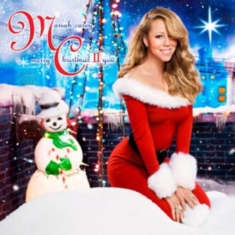 Mariah Carey's Digitally Whittled Christmas Album Cover