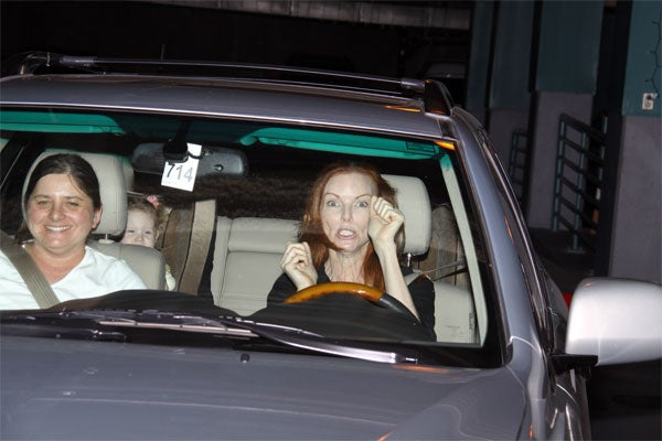 Marcia Cross Is Being Driven To ______