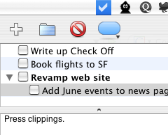 Check Off your to-do list in the menu bar