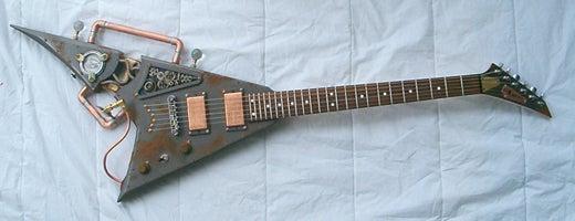 Steampunk Guitar Plays Like a Gibson