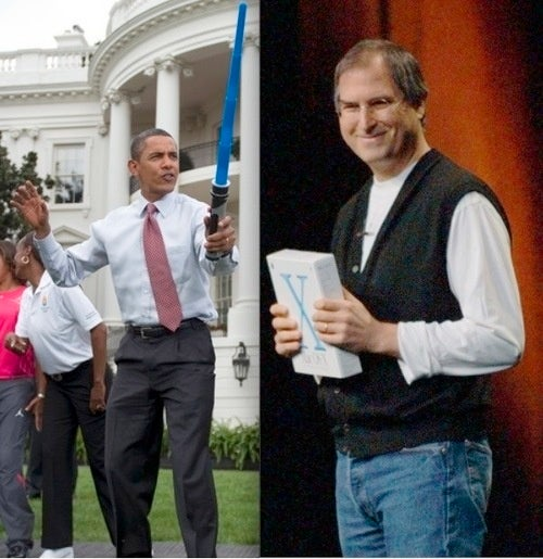 Steve Jobs Is Walloping the President with His Magic Tablet
