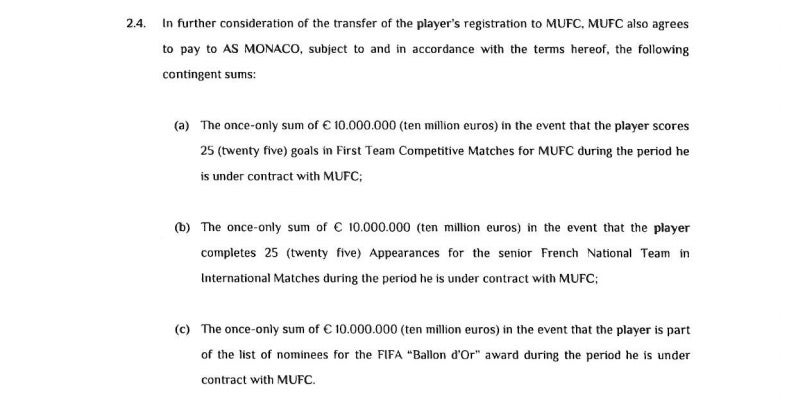 Read The Leaked Transfer Agreement Between Manchester United And Monaco For Anthony Martial