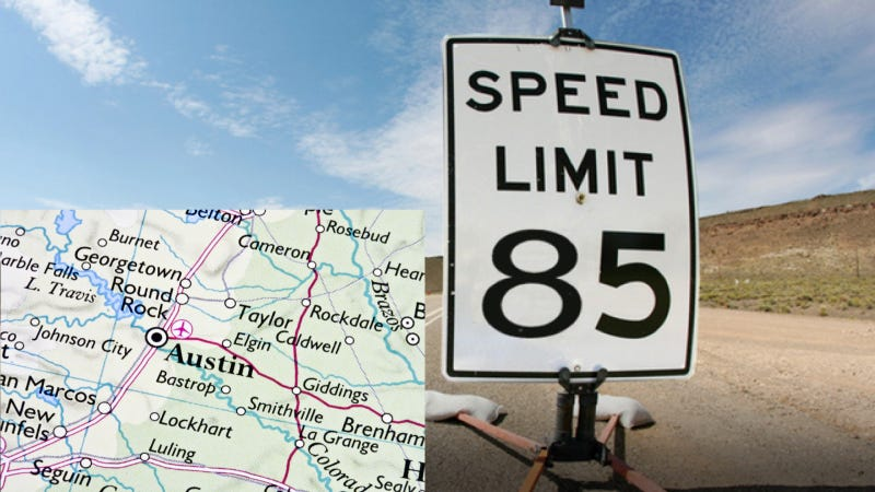 Why Texas' Insanely Fast 85 MPH Speed Limit Isn't A Big Deal