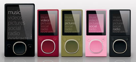 More Zune 2 Details: Lossless Support, Glass Screens, Green is the New Brown
