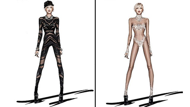 Miley's 'Bangerz' Tour Costumes Revealed, Are Heavy on the Underbutt