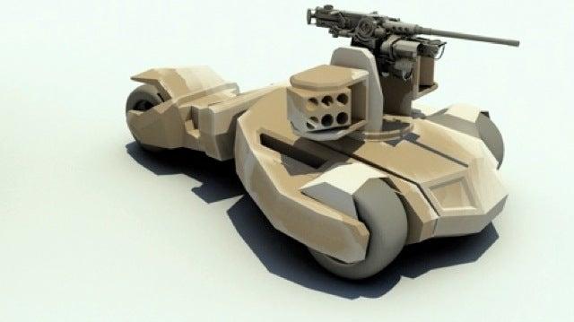 "Autonomous ""Raider"" Combat Vehicle Takes Design Cues from the Batmobile"