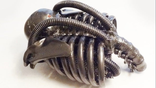 A Geiger counter, in the style of H.R. Giger
