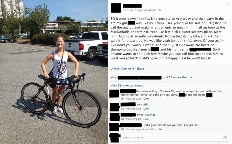 Girl Finds Her Stolen Bike on Craigslist, Gets It Back By Being Amazing