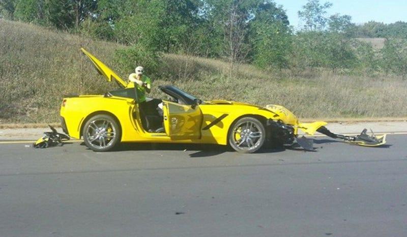 The First Customer C7 Corvette Crash: That Didn't Take Long