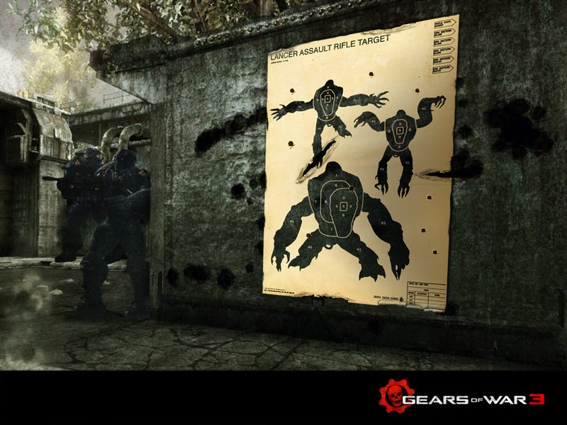 Practice Your Marksmanship with This Gears of War 3 Target Poster