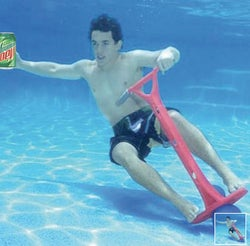 You Can Finally Pogo Stick In a Pool Thanks to Hammacher Schlemmer