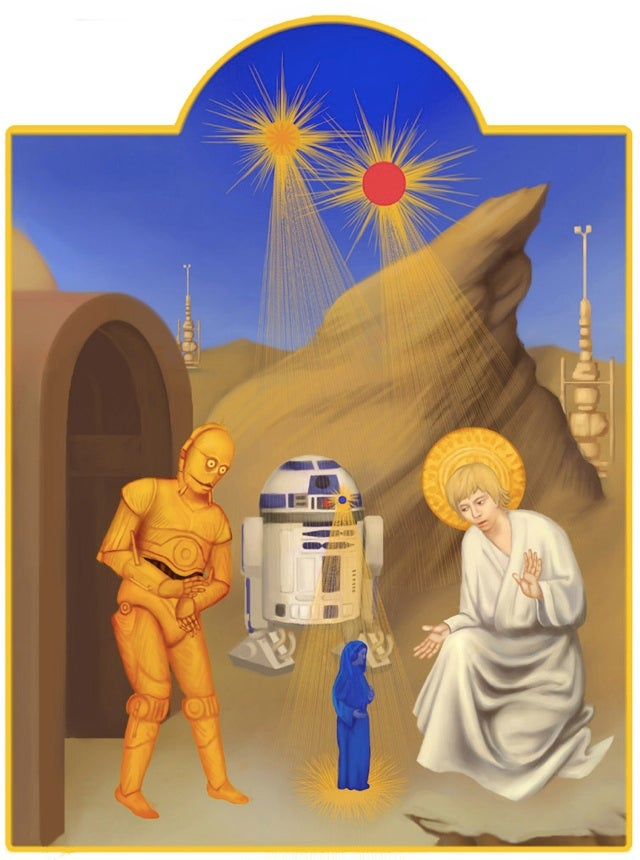 Jar Jar Binks attains sainthood in deranged Star Wars religious art