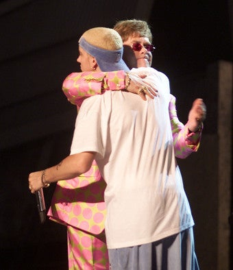 Elton John Helped Eminem Through Rehab; New Book Reveals Streisand Romanced Co-Stars