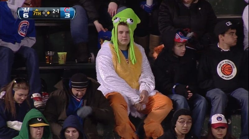 Why Yes, This Human-Chicken-Squid Hybrid Is A Cubs Fan