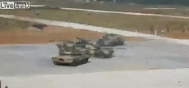 I Can't Stop Watching These Waltzing Russian Tanks!