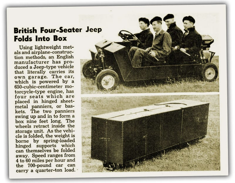 Look At This Amazing Folding Jeep