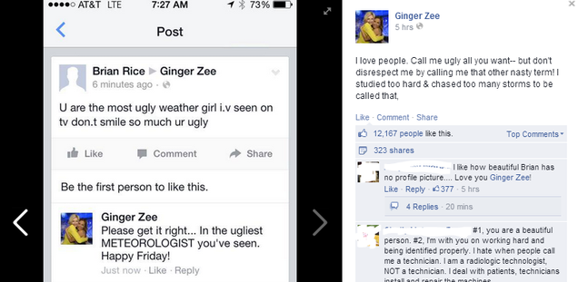 Female Meteorologist Smacks Down Sexist Jerk on Facebook