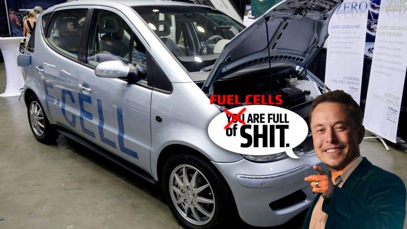 Elon Musk Says Hydrogen Fuel Cell Cars Are 'Bullshit'